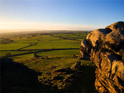 A view from Almscliffe Crag
